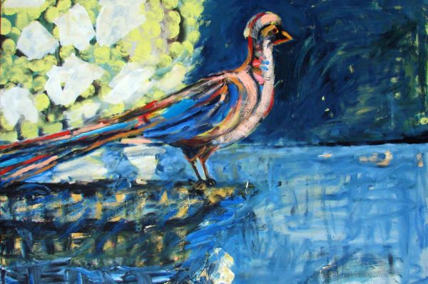 Klaus Becker - Oil on Canvas Bird - 100x140 cm