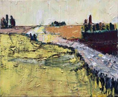 Klaus Becker-Öl auf Leinen-Landschaft1-50x60 cm