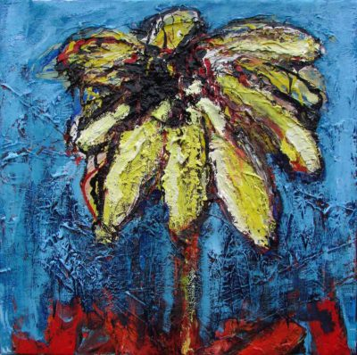 Klaus Becker - Oil on Canvas - Flower 1 - 50x50 cm