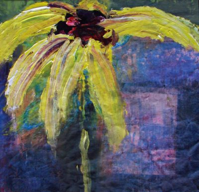 Klaus Becker - Oil on Canvas - Flower 2 - 60x60 cm