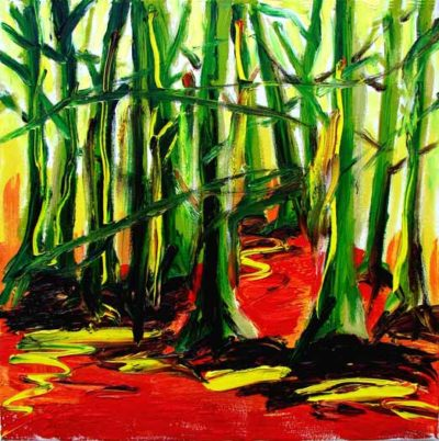 Klaus Becker - Oil on Canvas - Forest - 60x60 cm