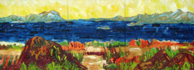 Klaus Becker - Oil on Canvas - Seashore - 100x280 cm
