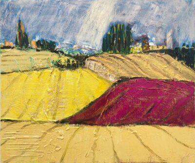 Klaus Becker-Öl auf Leinen-Landschaft3-50x60 cm