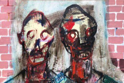 Klaus Becker-Oil on Canvas -Die Heimkehrer-100x145 cm