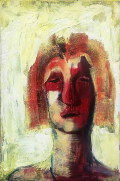 Klaus Becker-Portrait XXY-Oil on canvas-90x60cm