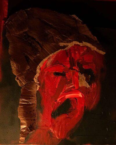 Klaus Becker-Akryl mit Pappe auf Karton-100x80 cm