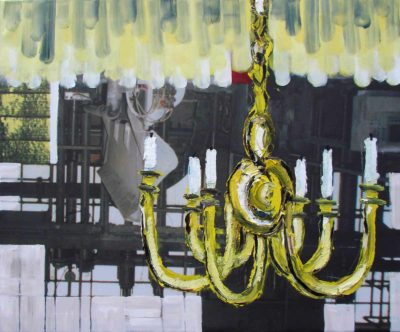 Klaus Becker - Oil on Canvas - Chandelier - 100x120 cm