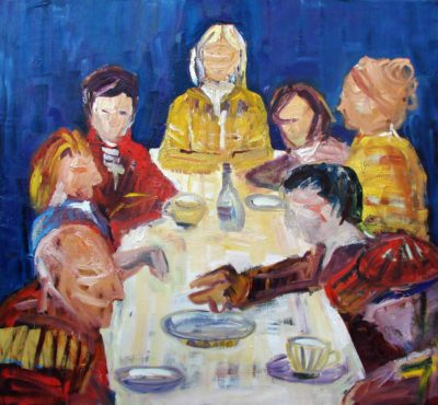 Klaus Becker - Oil on Canvas - Die Familie - 145x200cm