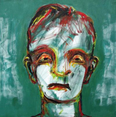 Klaus Becker - Oil on Canvas - Green boy - 100x100cm