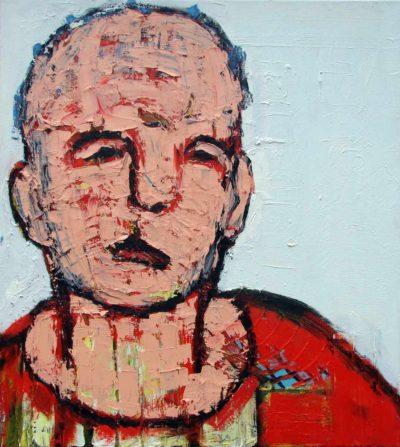Klaus Becker - Oil on Canvas - Hudfarvet portræt - 100x100cm