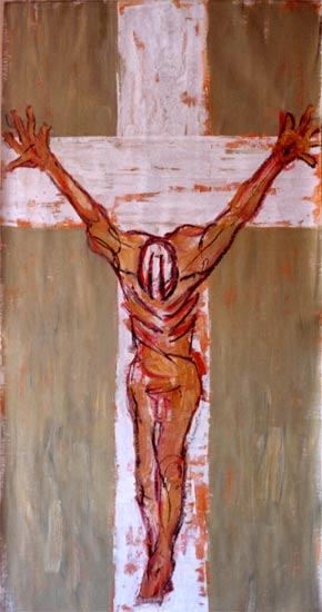 Klaus Becker - Oil on Canvas - INRI - 145x95 cm