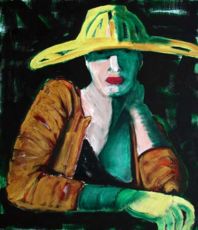 Klaus Becker - Oil on Canvas - Le chapeau - 150x130cm