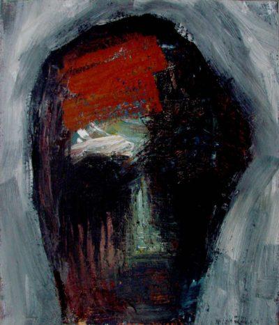 Klaus Becker - Oil on Canvas - Masque - 70x60cm