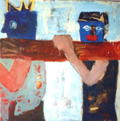 Klaus Becker - Oil on Canvas - The king and me - 120x120 cm