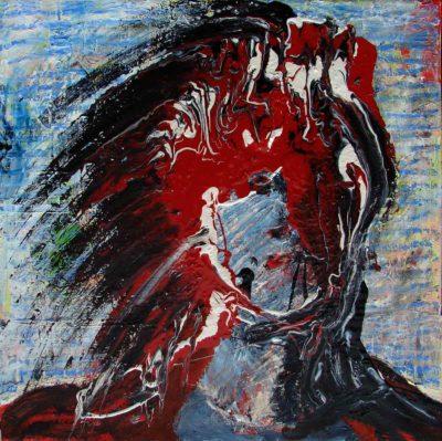 Klaus Becker - Oil on Canvas - Wildmand - 60x60