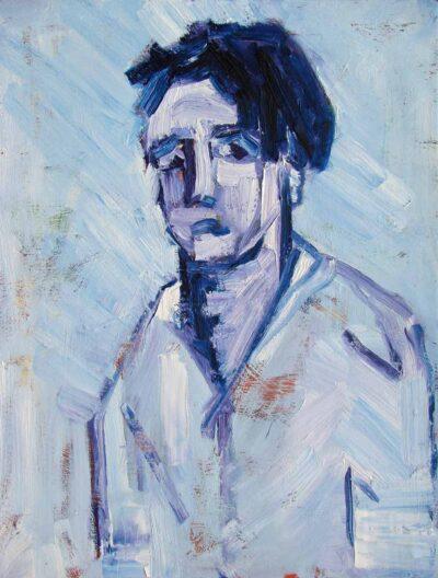 Klaus Becker-Oil on Canvas-Wo warst du Adam?-100x80cm