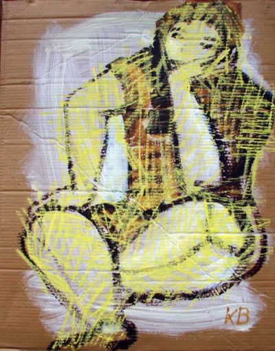 Klaus Becker - Sketch on Carton - Girl from Greenland - 100x80cm