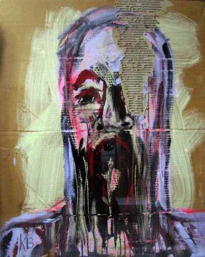 Klaus Becker - Sketch on Carton - Rasputin - 100x80cm