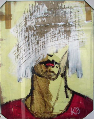Klaus Becker - Sketch on Carton - Do not want to see you - 100x80cm
