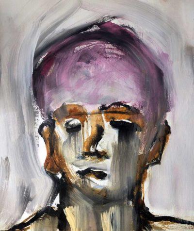 Klaus Becker - Sketch on paper - Jeune garçon - 51x54cm