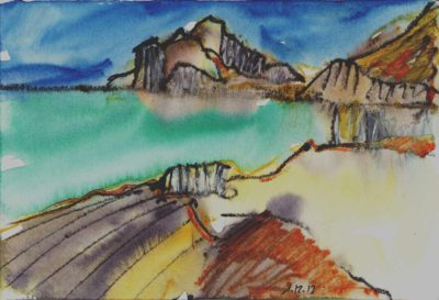Klaus Becker - Watercolour - Oman - 1