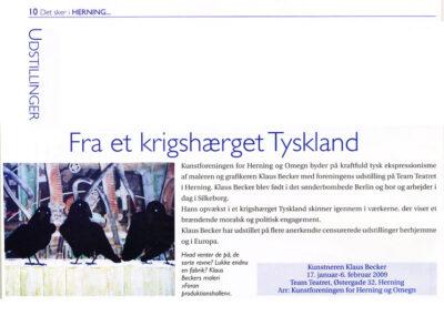 Klaus Becker-Udstilling Kunstforening Herning 2009